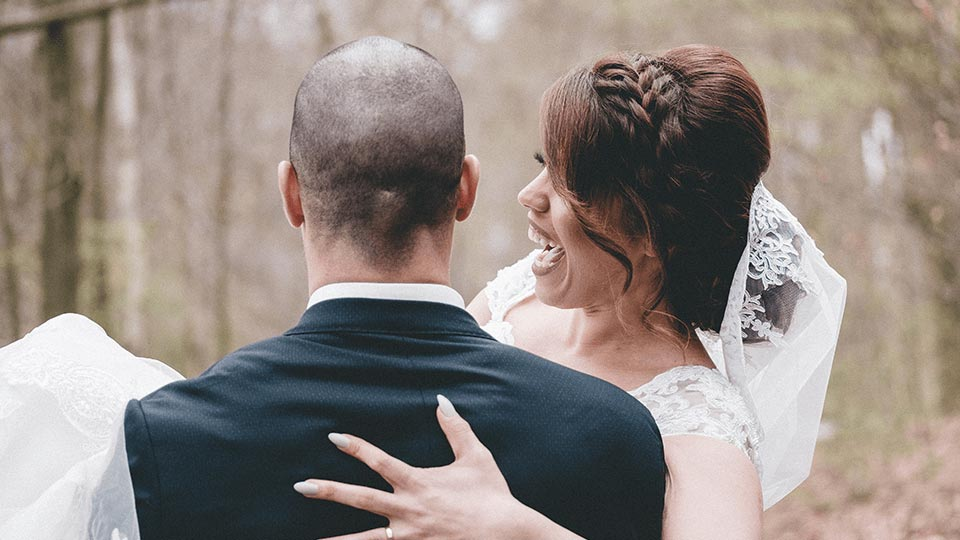 brudepar-bryllup-gift